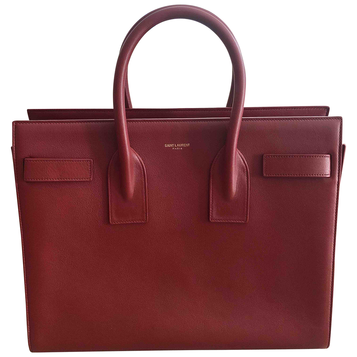 Saint Laurent Sac de Jour Red Leather handbag for Women \N