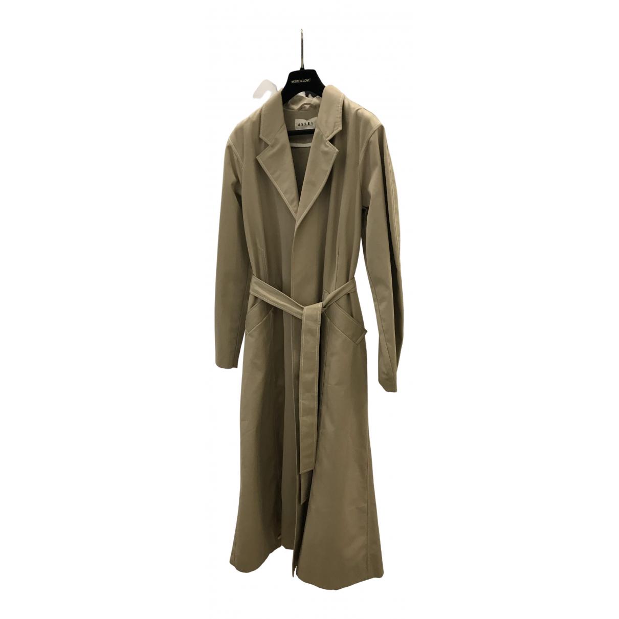- Manteau   pour femme en coton - beige