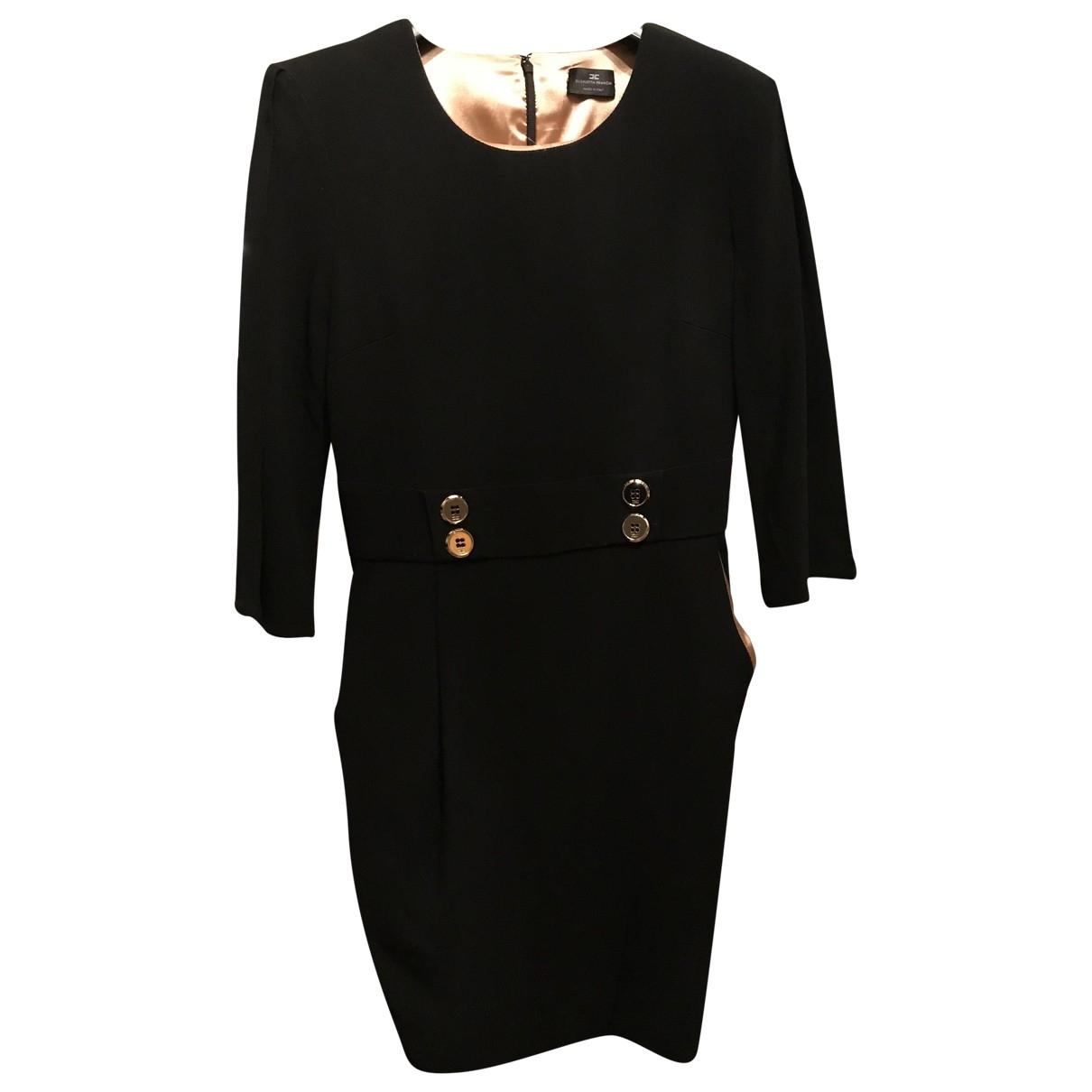 Elisabetta Franchi \N Black Cotton dress for Women 42 IT