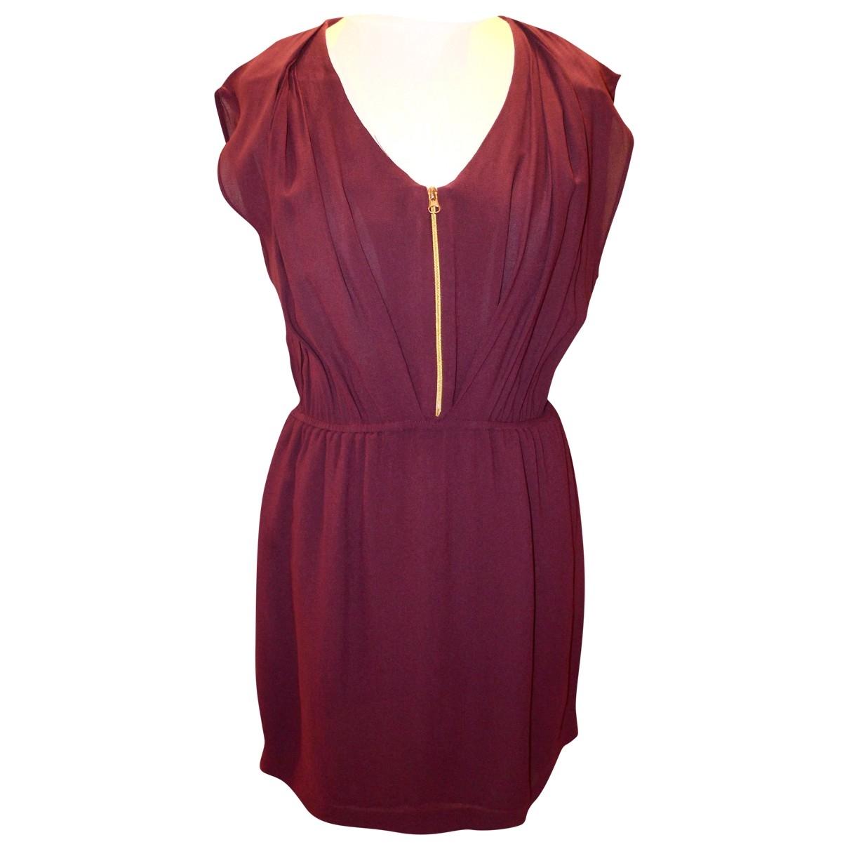 Sandro \N Burgundy dress for Women 1 0-5