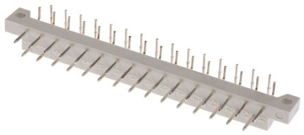 ASSMANN WSW 5mm Pitch 31 Way 2 Row Right Angle Male DIN 41617 Connector, Solder Termination, 2A