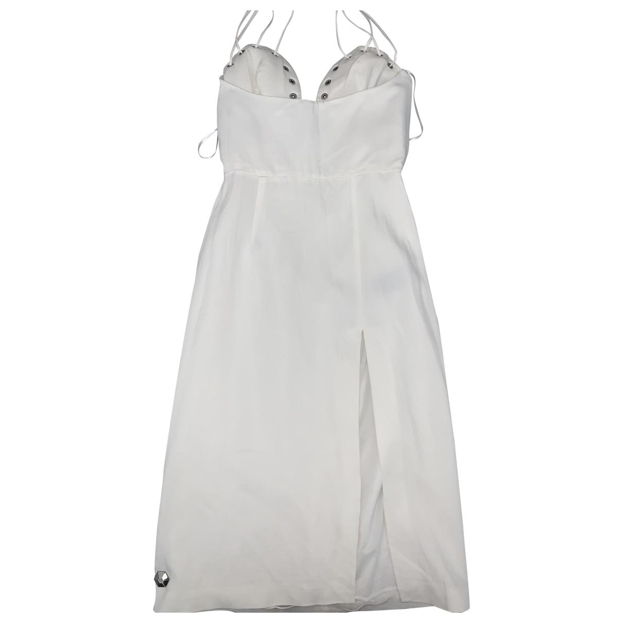 Philipp Plein - Robe   pour femme en coton - blanc
