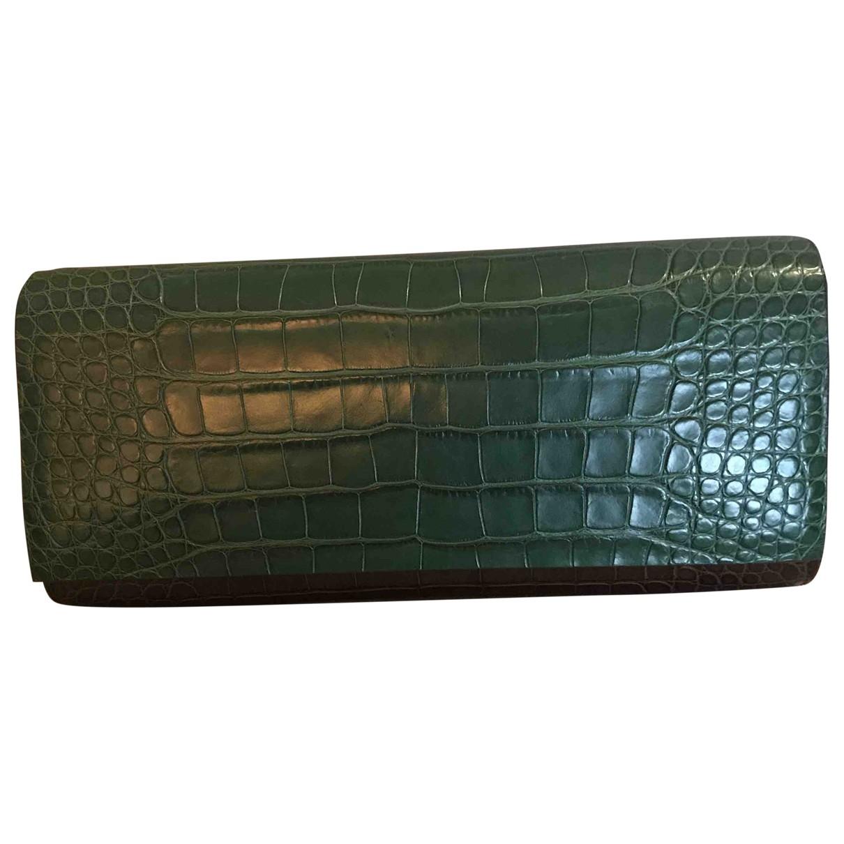 Tess Van Ghert \N brown/green Leather Clutch bag for Women \N