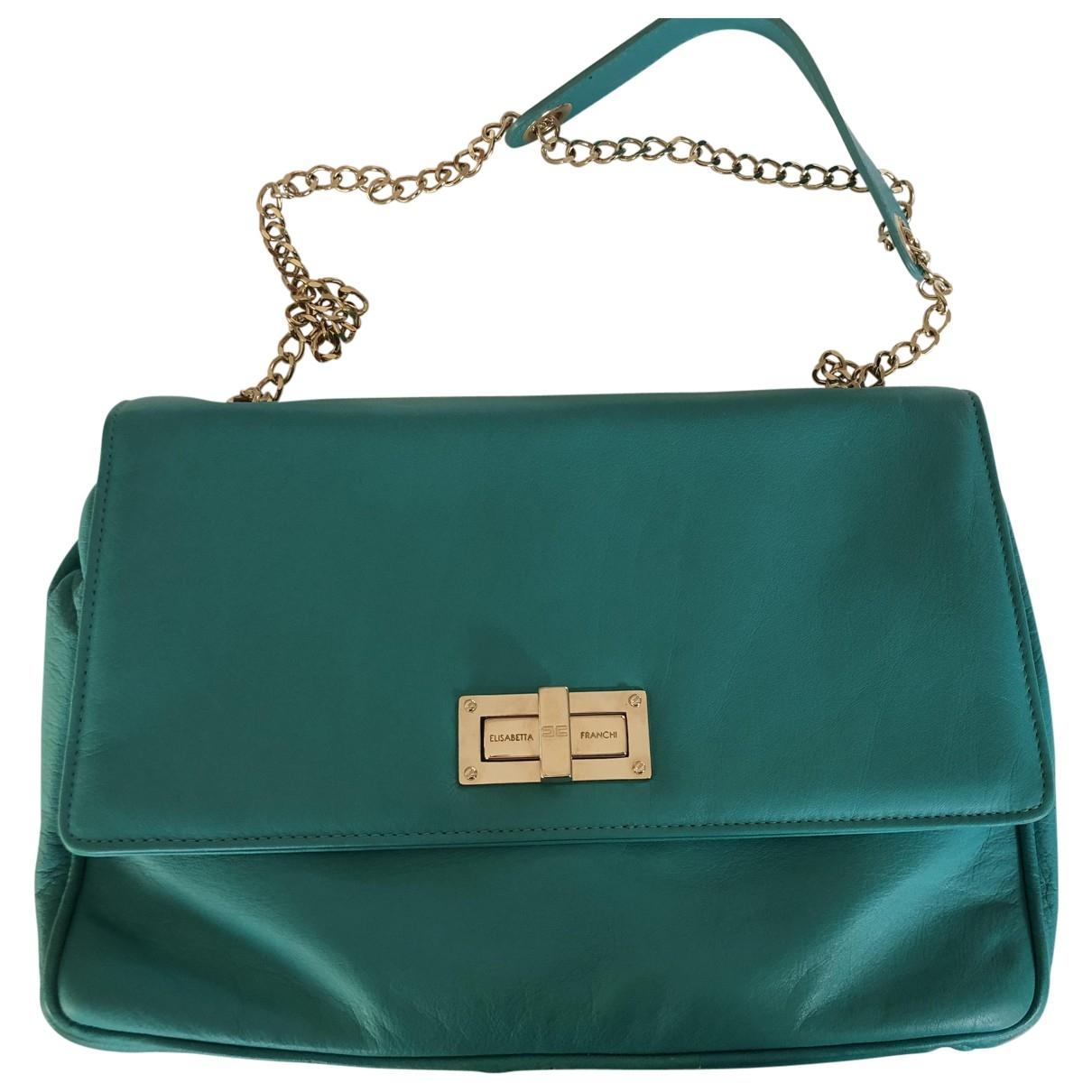 Elisabetta Franchi \N Turquoise Leather handbag for Women \N