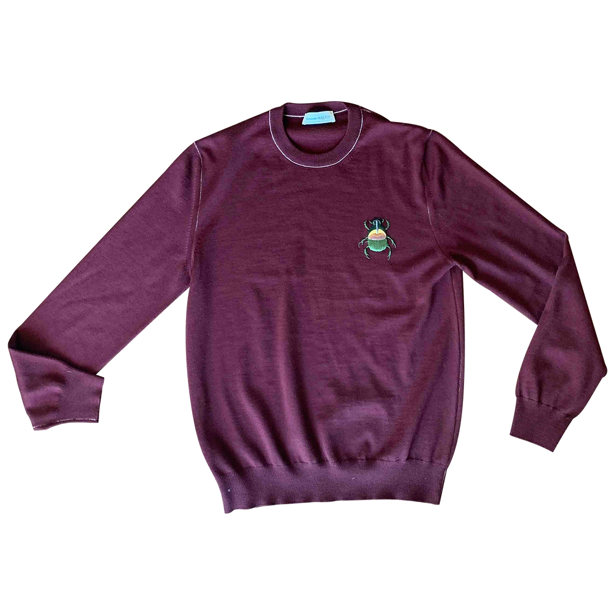 Alexander Mcqueen \N Pullover.Westen.Sweatshirts  in  Bordeauxrot Wolle