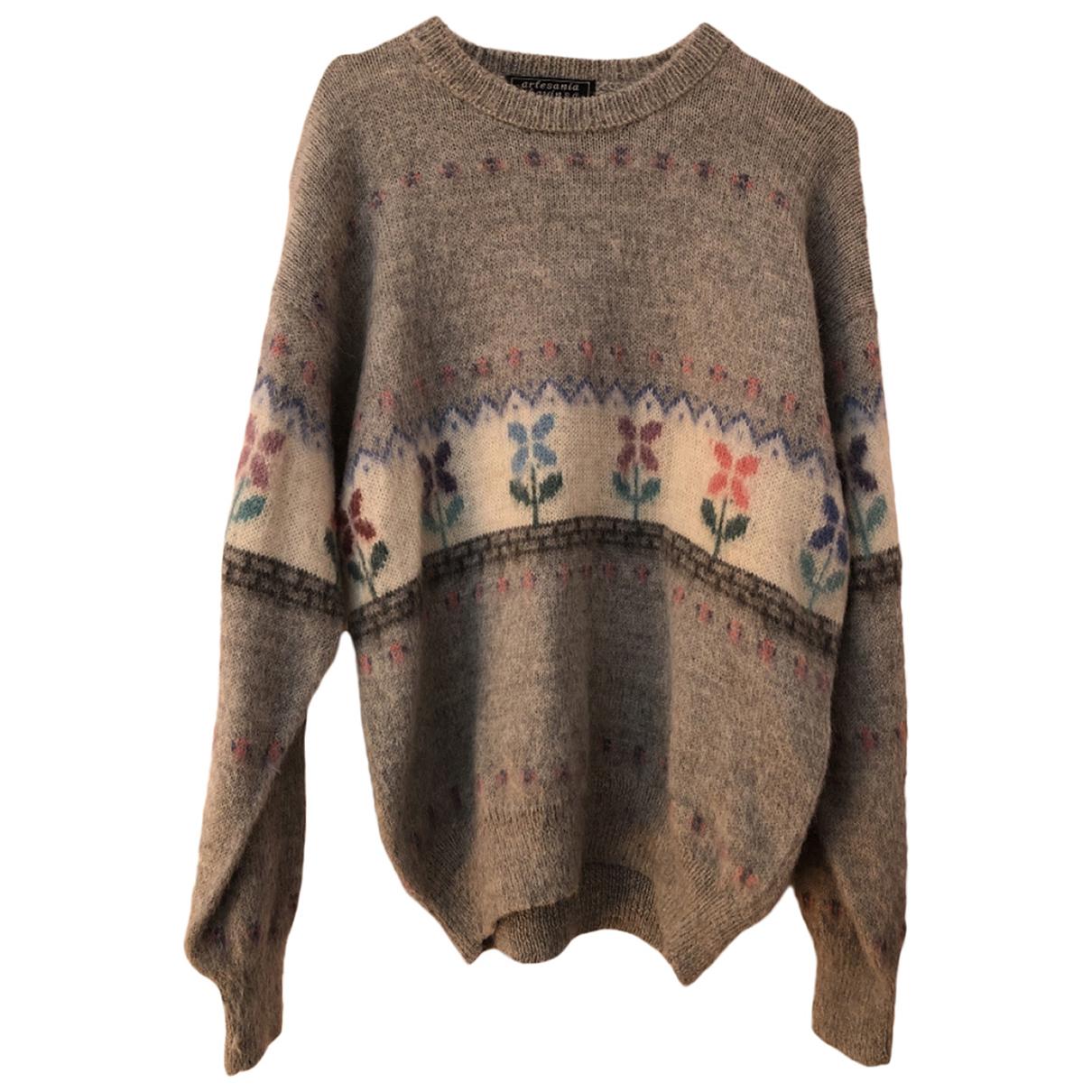 - Pull Oversize pour femme en laine - gris