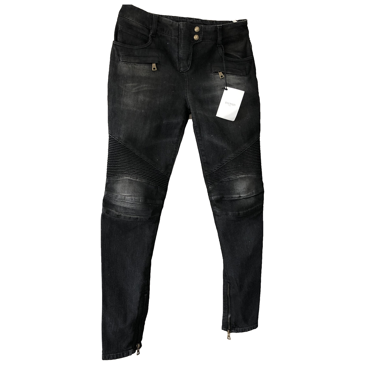Balmain \N Grey Denim - Jeans Jeans for Women 38 FR