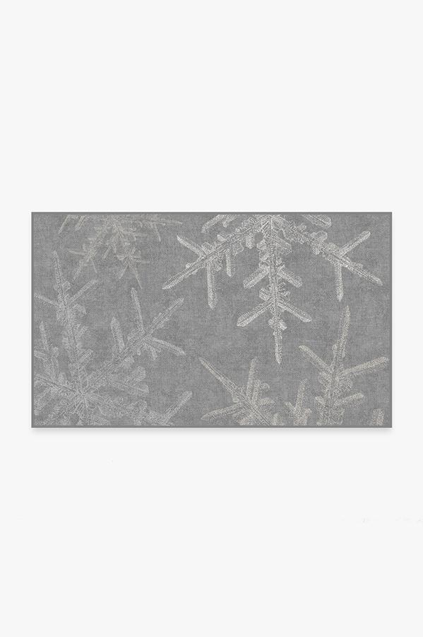 Washable Rug Cover | Snowflake Silver Rug | Stain-Resistant | Ruggable | 3'x5'