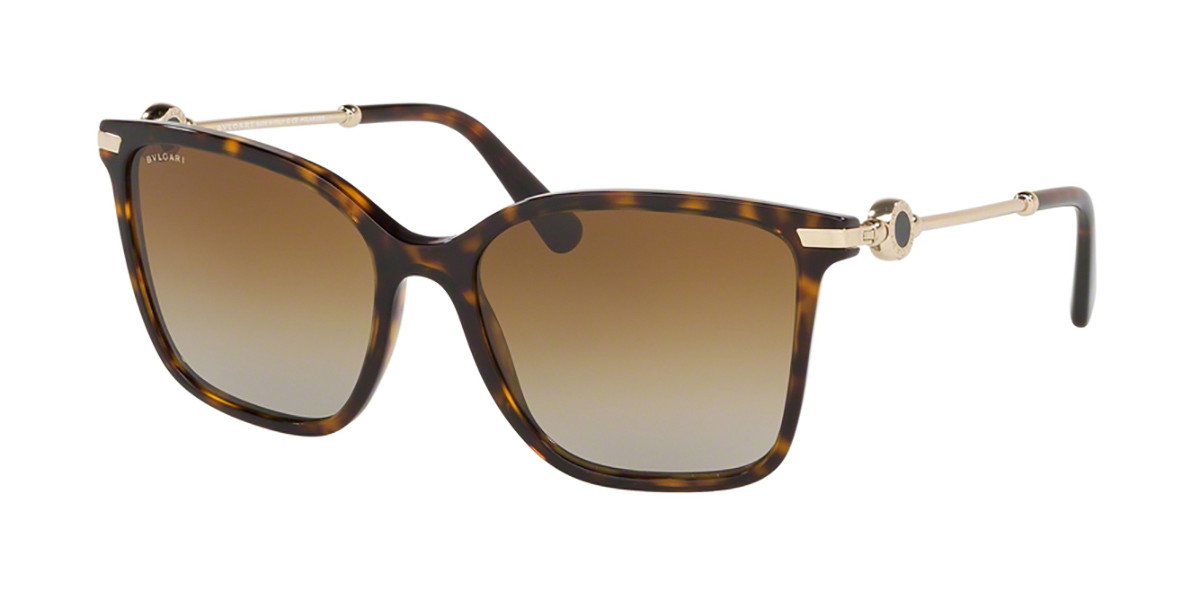 Bvlgari BV8222F Asian Fit Polarized 504/T5 Women's Sunglasses Tortoise Size 55