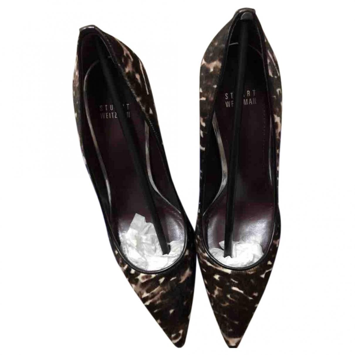 Stuart Weitzman \N Brown Pony-style calfskin Heels for Women 9 US