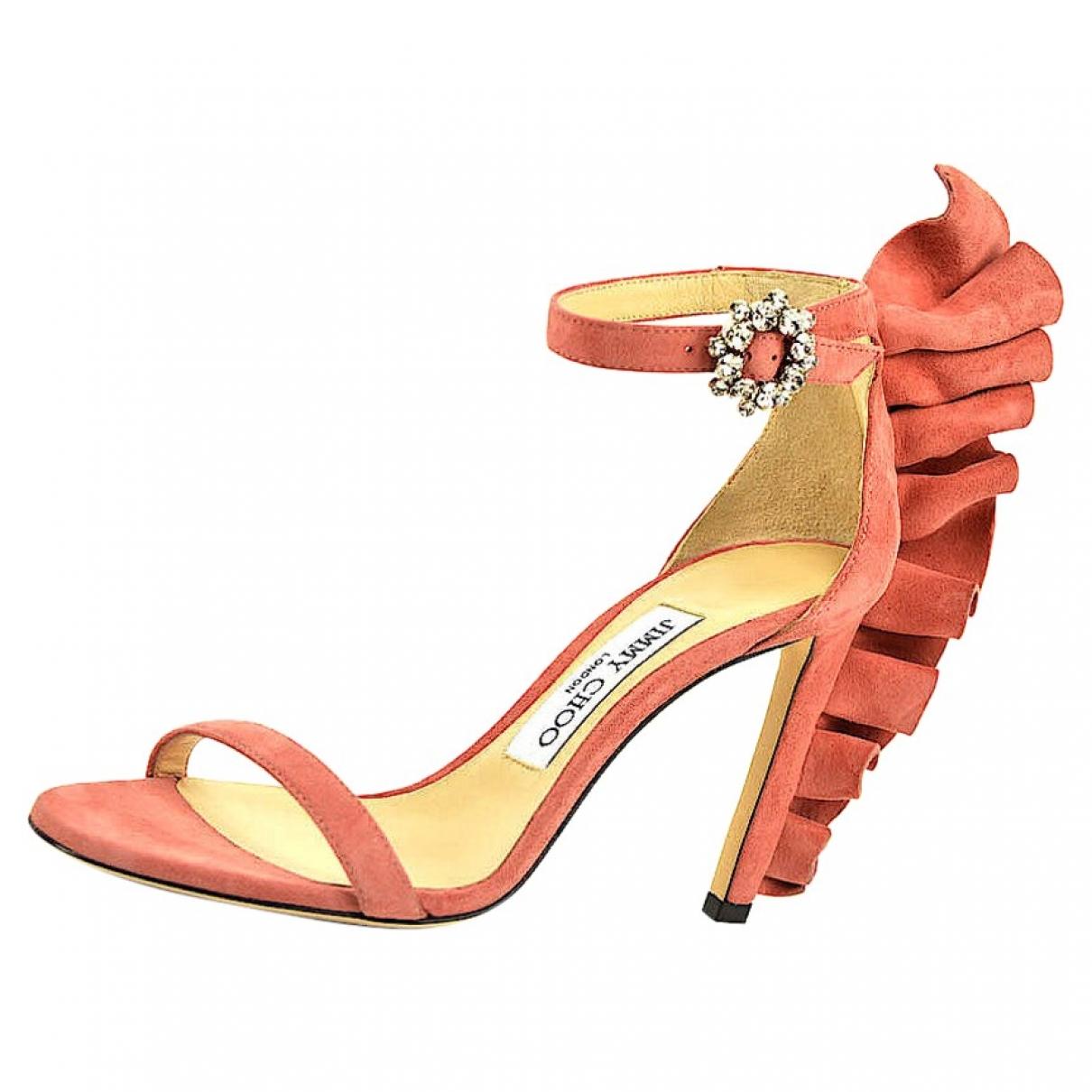 Jimmy Choo - Sandales   pour femme en cuir - rose