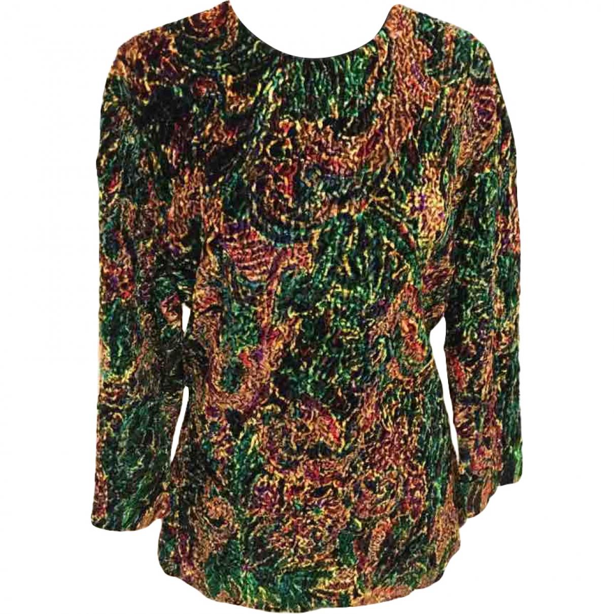 Lanvin - Top   pour femme en velours - multicolore