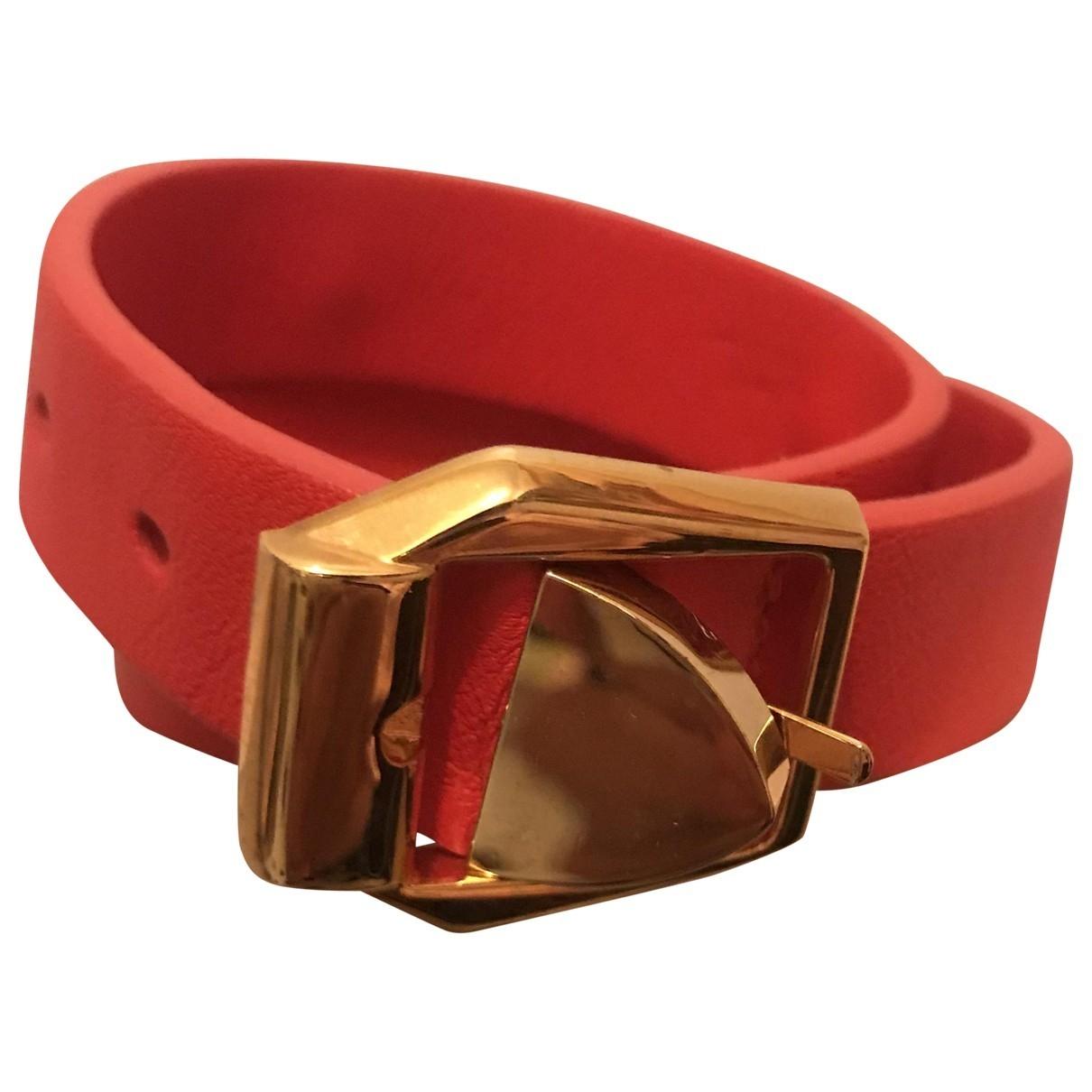 Versace - Bracelet Medusa pour femme en cuir - orange