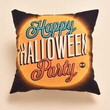 Kissenbezug mit Halloween Buchstaben Grafik ohne Fuellstoff