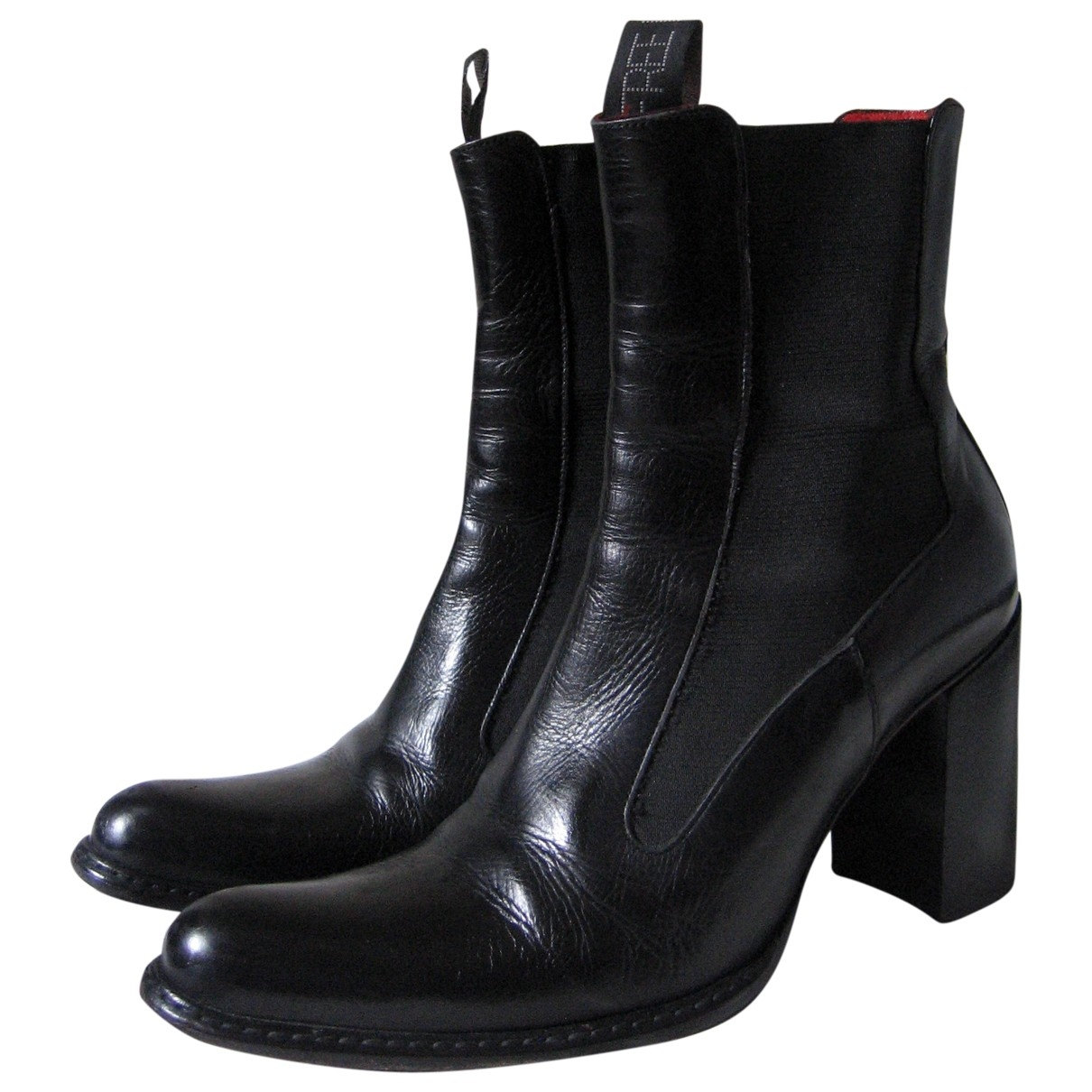 Free Lance \N Black Leather Ankle boots for Women 35 EU