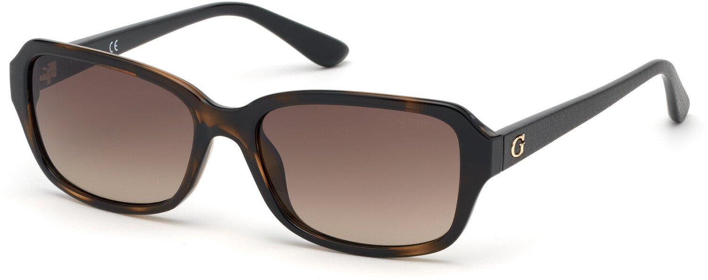 Guess Women's Gradient Gu7595 GU7595-52F-56 Brown Rectangle Sunglasses