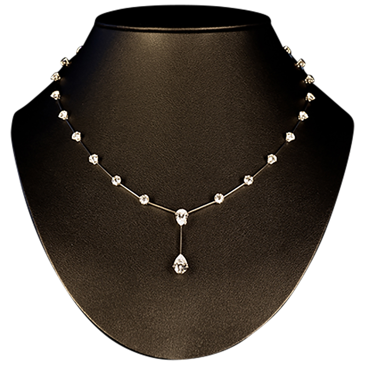Non Signé / Unsigned \N White Platinum necklace for Women \N