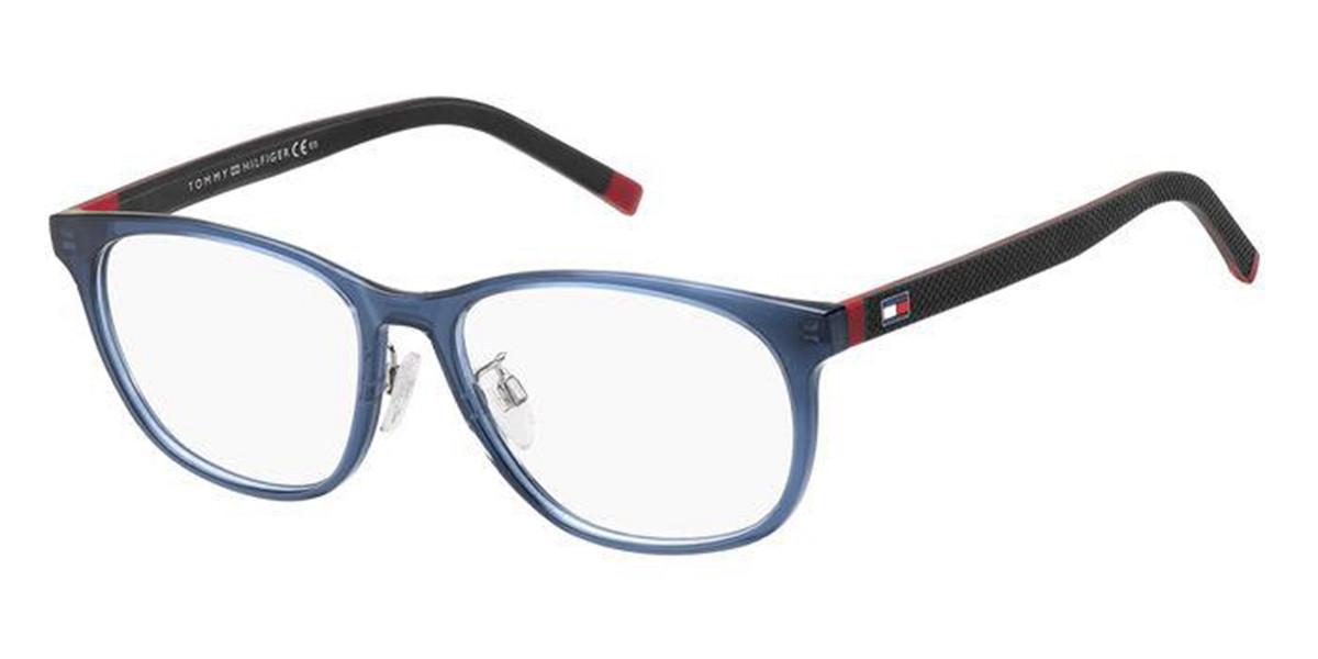 Tommy Hilfiger TH 1793/F Asian Fit PJP Men's Glasses Blue Size 56 - Free Lenses - HSA/FSA Insurance - Blue Light Block Available