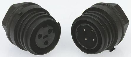 Bulgin Connector, 10 contacts Panel Mount Plug, Screw IP68, IP69K