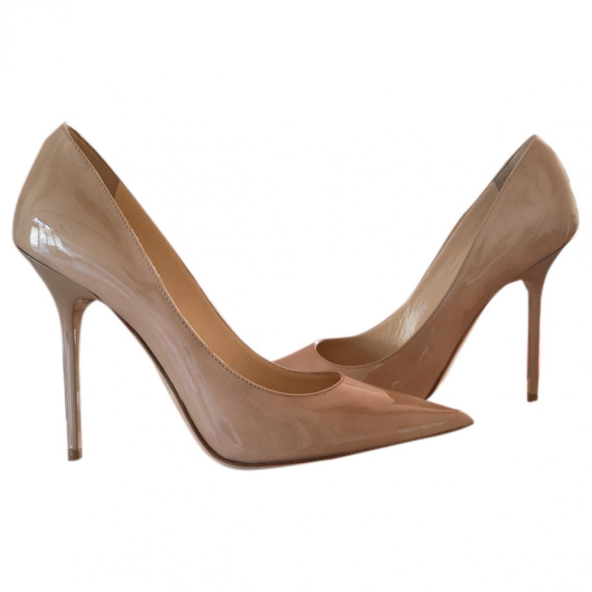Jimmy Choo Anouk Beige Leather Heels for Women 36 EU