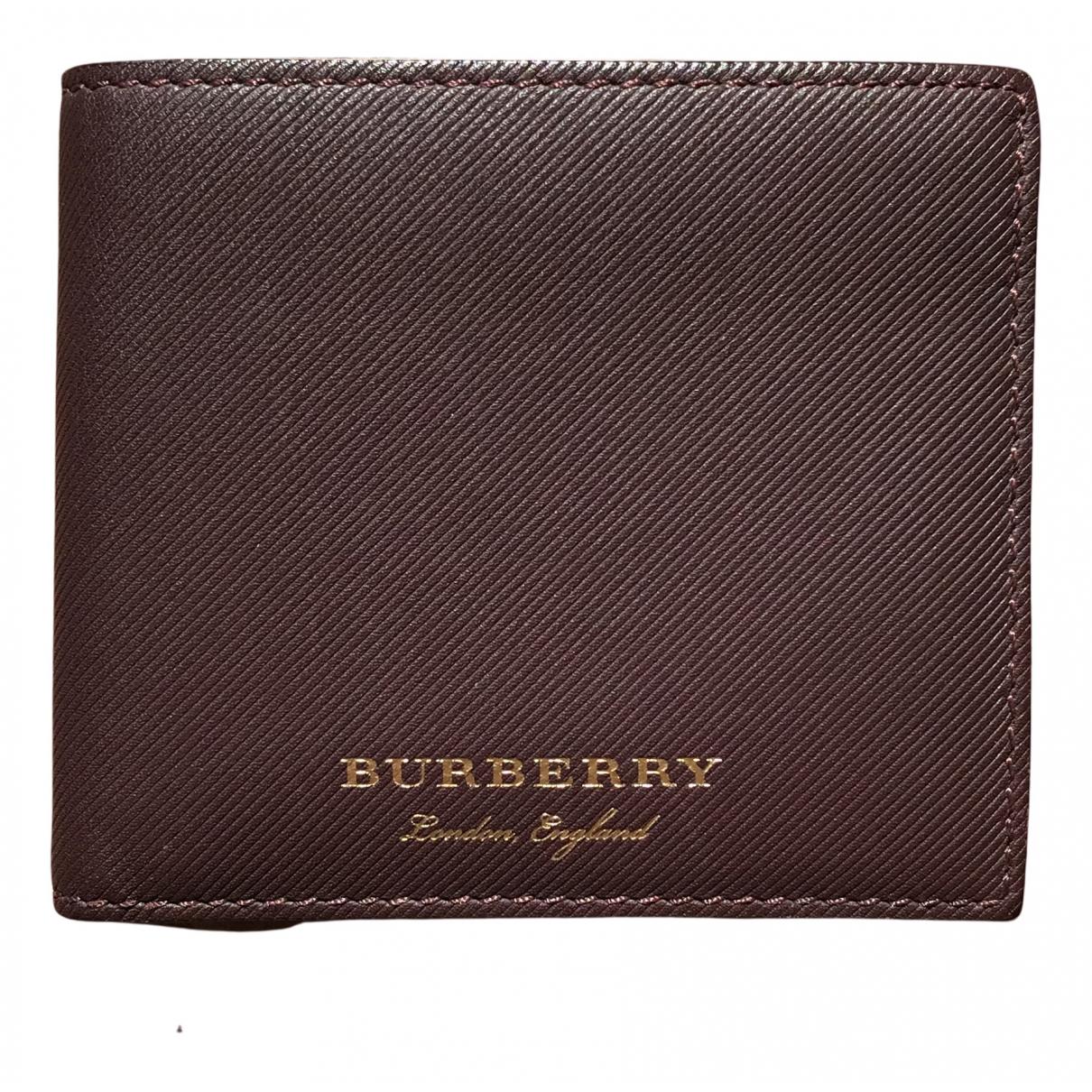 Burberry - Petite maroquinerie   pour homme en cuir - bordeaux