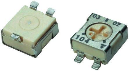 Vishay 50kΩ, SMD Trimmer Potentiometer 0.25W Top Adjust , TS53 (5)
