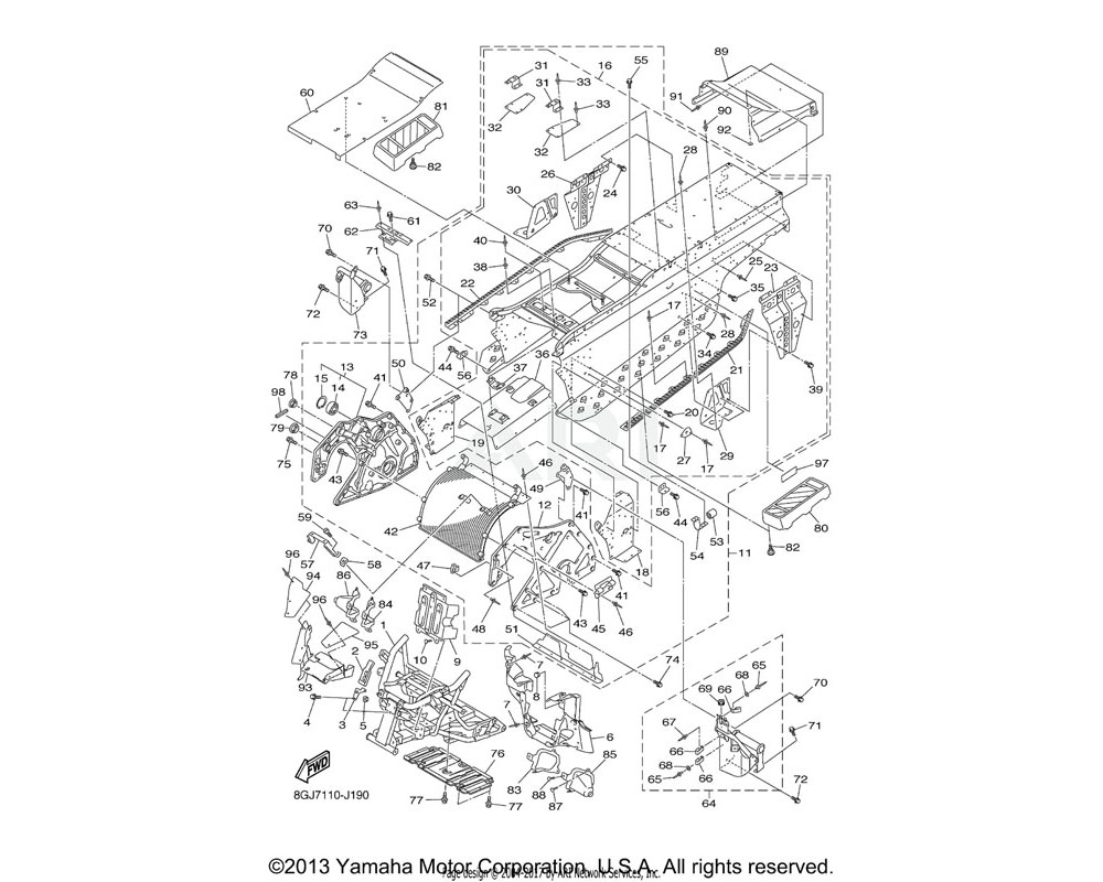 Yamaha OEM 8GJ-2198F-00-00 COVER 1