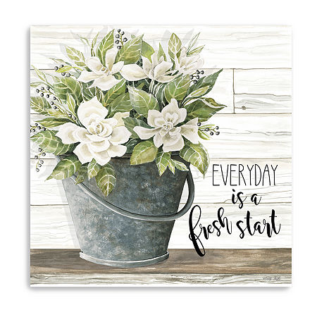Everyday Is A Fresh Start Giclee Canvas Art, One Size , Multiple Colors