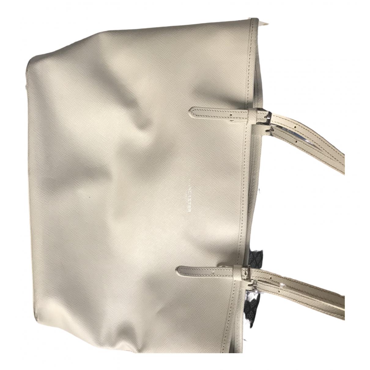 Lancaster \N White Leather handbag for Women \N