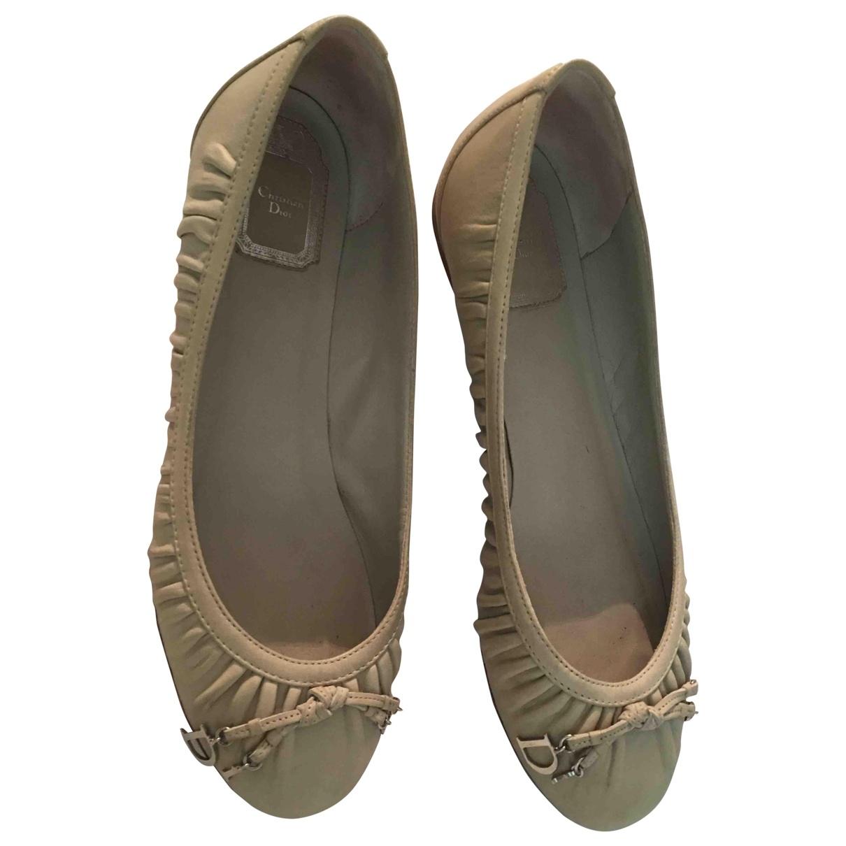 Dior \N Beige Leather Ballet flats for Women 40 EU