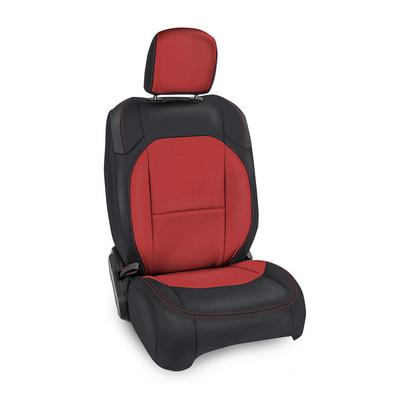 PRP Vinyl Front Seat Covers (Black with Red Stitching) - B040-01