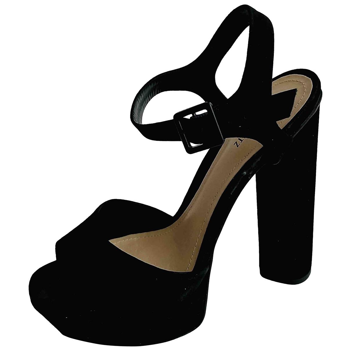 Schutz \N Black Velvet Sandals for Women 36 EU