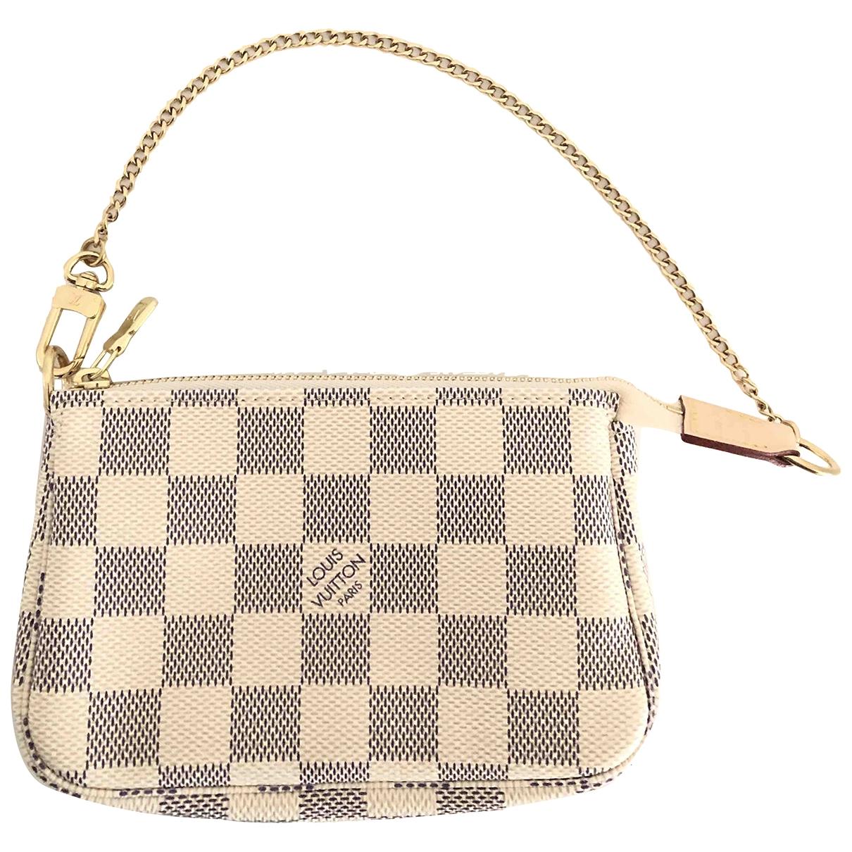 Louis Vuitton Pochette Accessoire Beige Cloth Clutch bag for Women \N