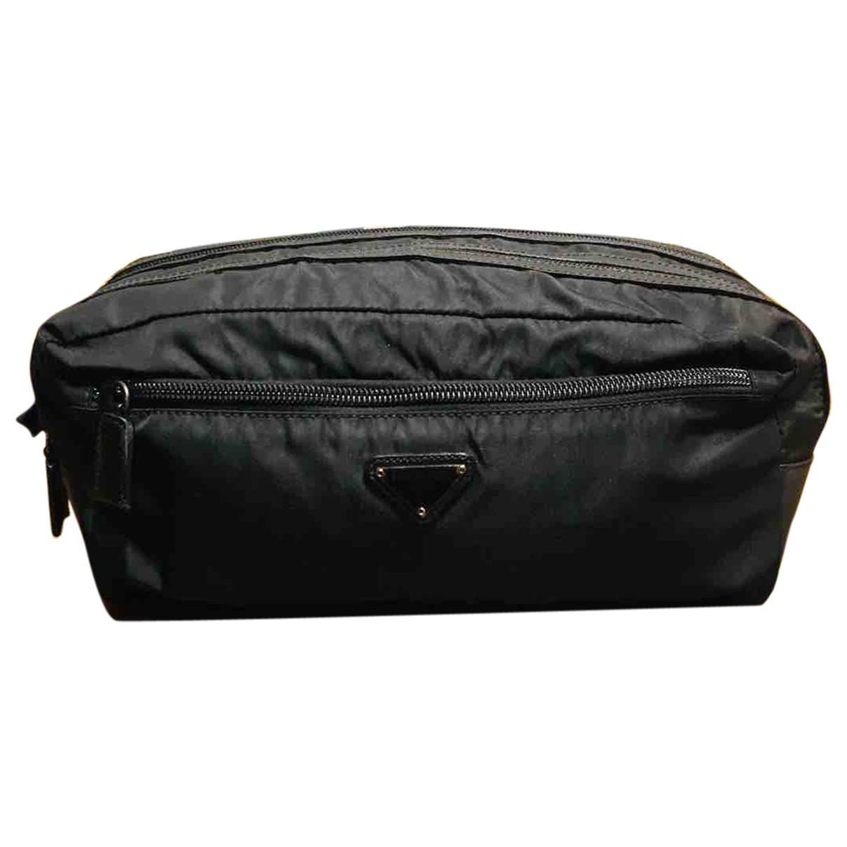 Prada N Black Cloth Small bag, wallet & cases for Men N