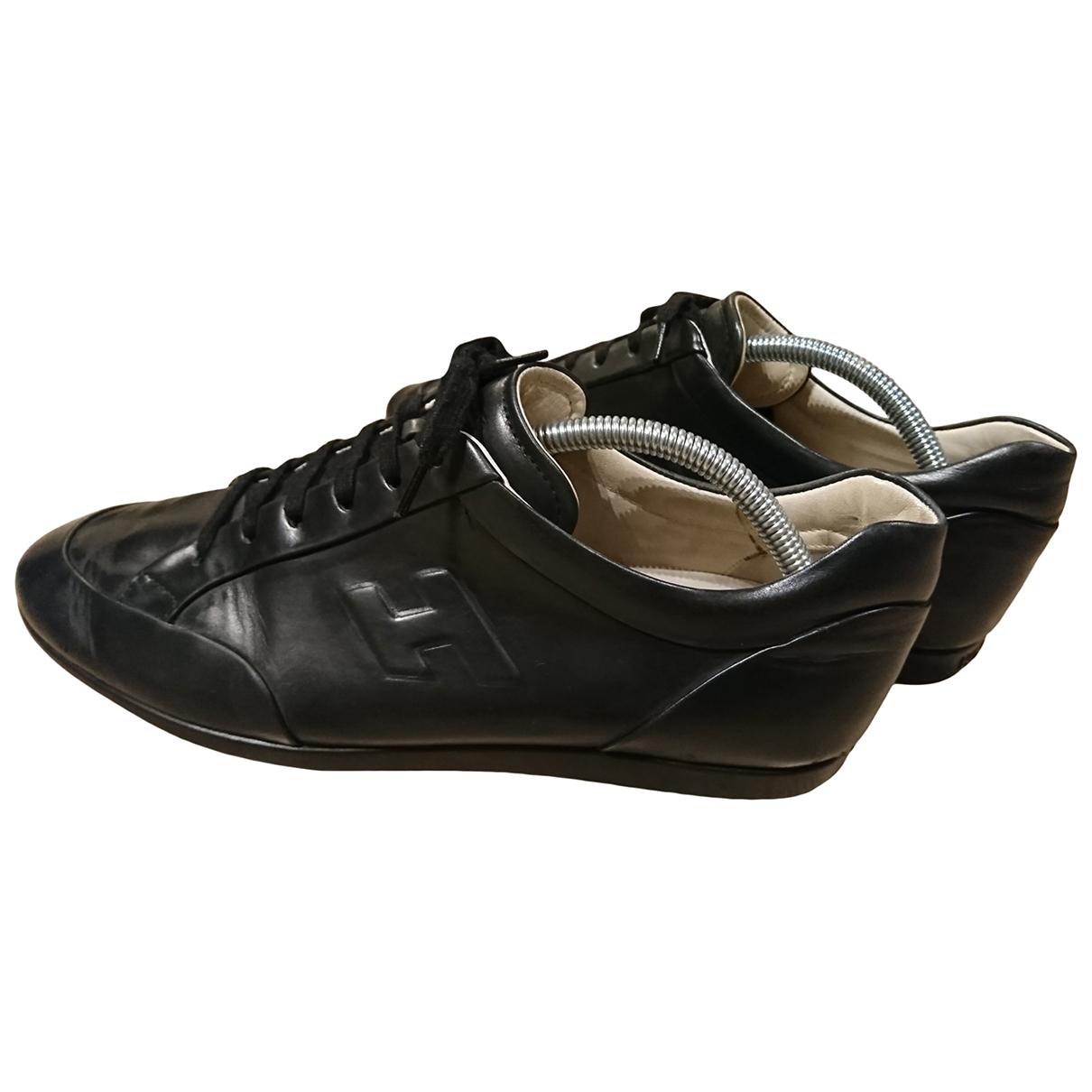 Hogan \N Black Leather Trainers for Men 7.5 UK