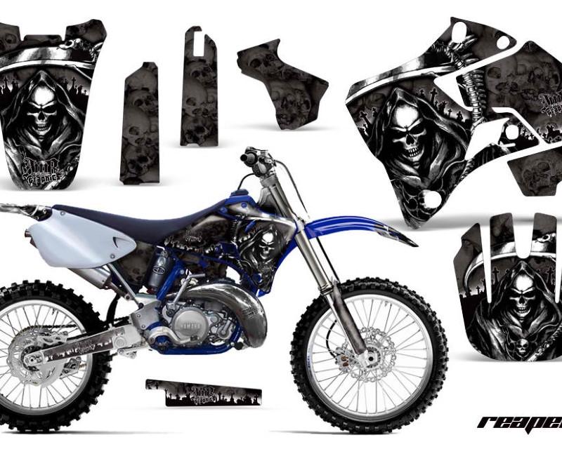 AMR Racing Dirt Bike Graphics Kit Decal Sticker Wrap For Yamaha YZ125 YZ250 1996-2001áREAPER BLACK