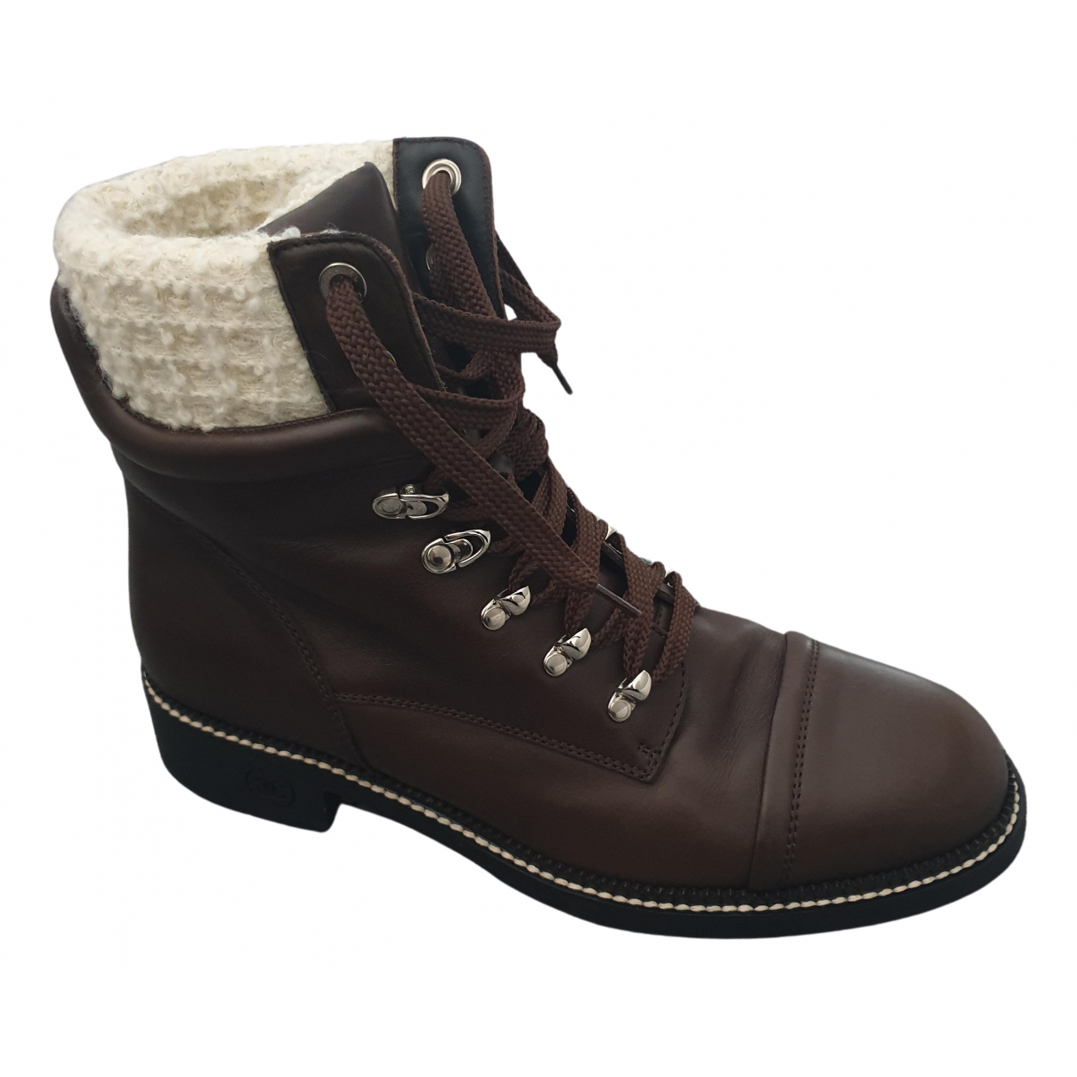 Chanel N Brown Leather Ankle boots for Women 43 EU