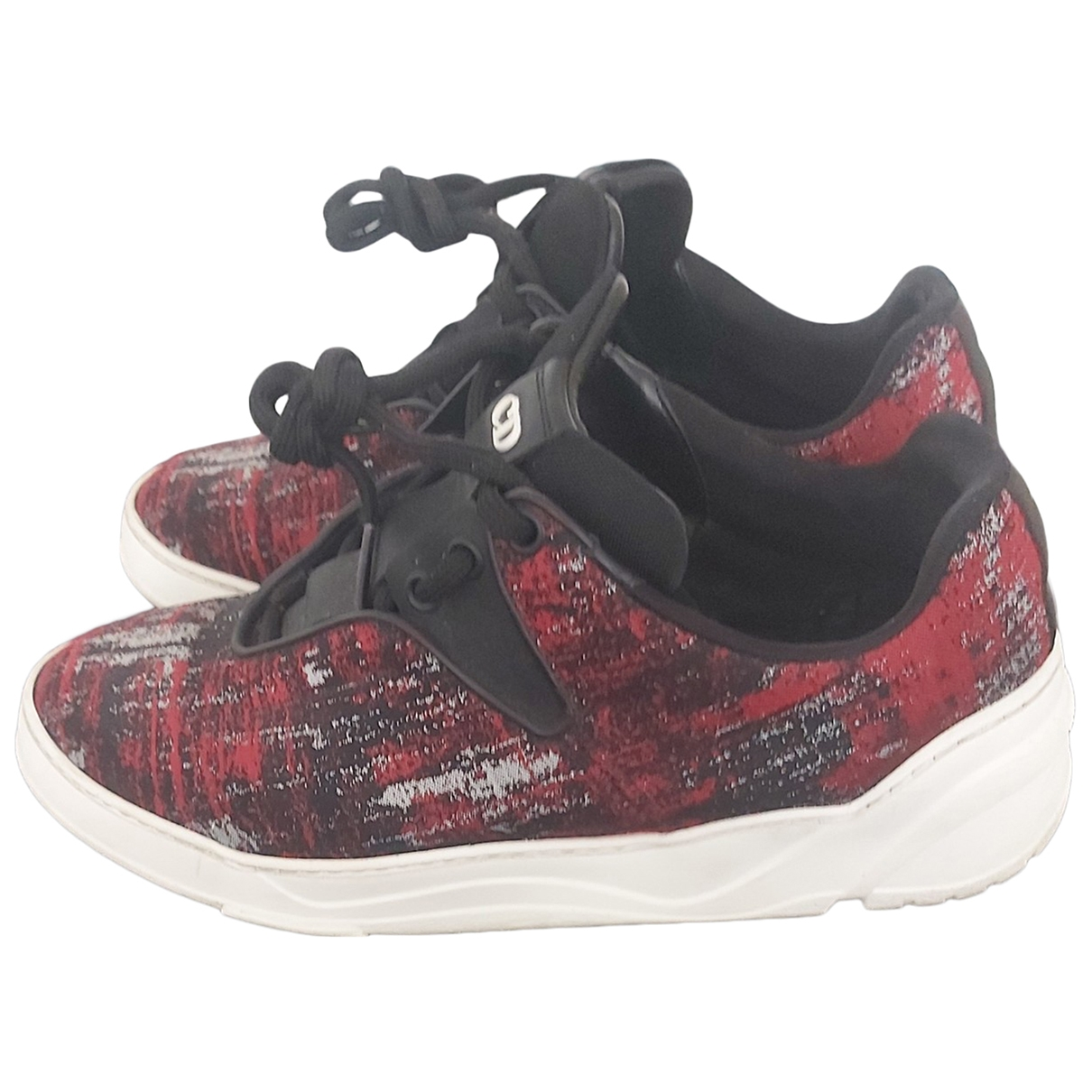 Dior Homme \N Red Cloth Trainers for Men 39 EU