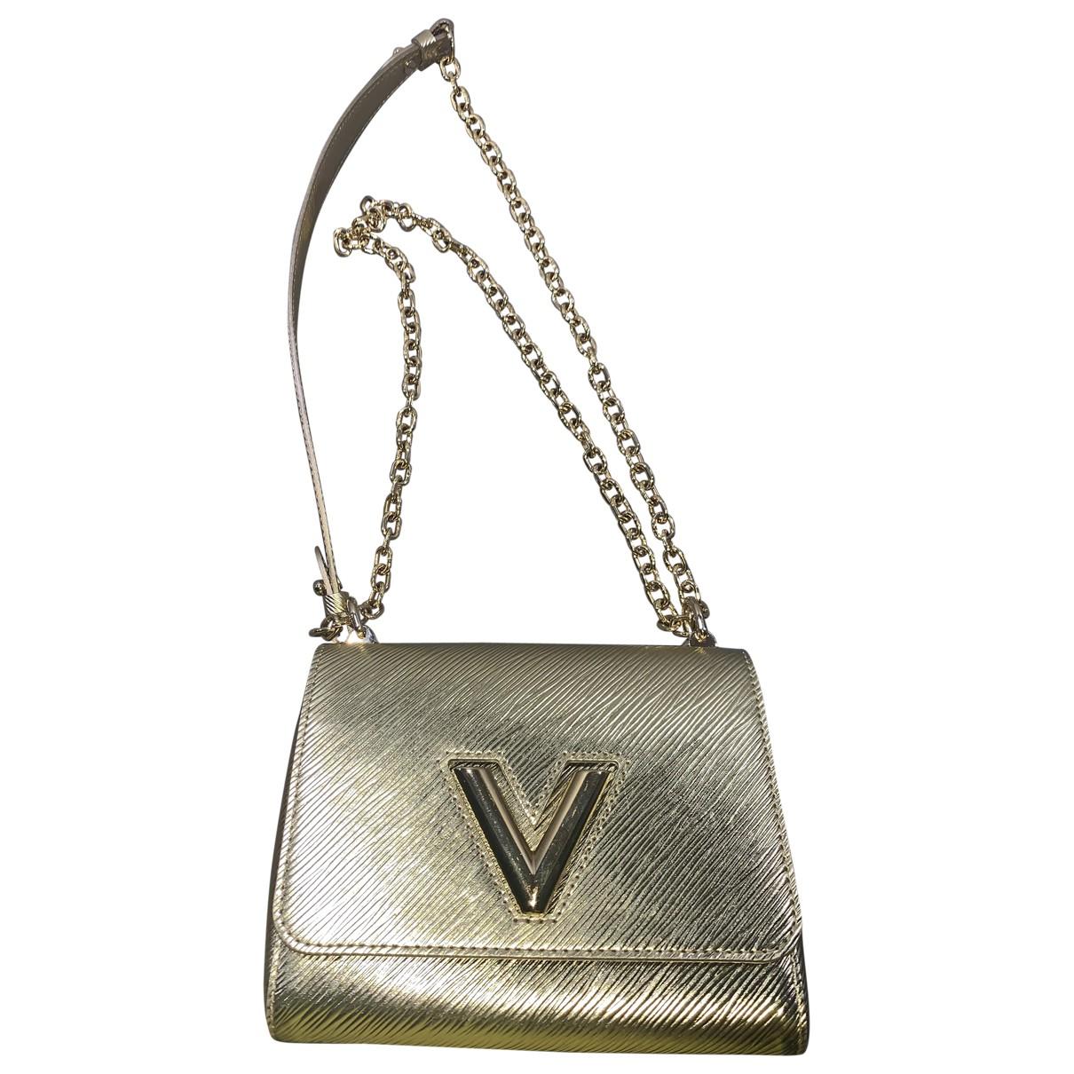 Louis Vuitton - Sac a main Twist pour femme en cuir - dore
