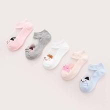 5pairs Baby Cartoon Graphic Socks