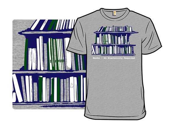 Books - No Electricity Required Remix T Shirt