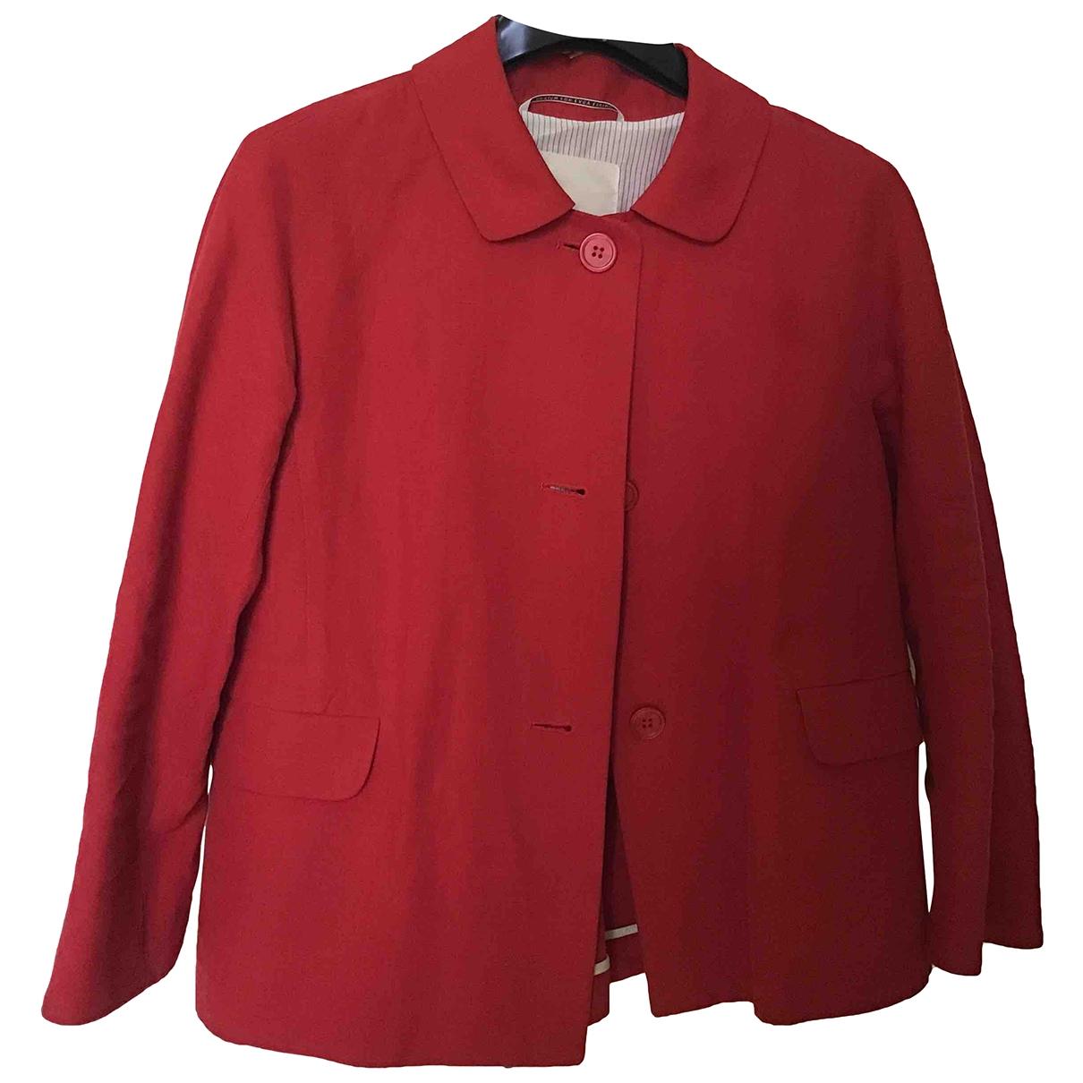 Max Mara 's \N Red Linen jacket for Women 40 IT