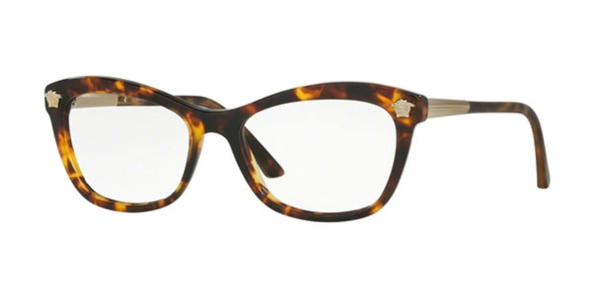 Versace VE3224 5148 Women's Glasses Tortoise Size 54 - Free Lenses - HSA/FSA Insurance - Blue Light Block Available