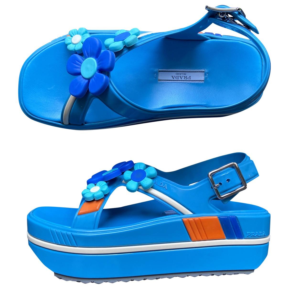 Prada \N Sandalen in  Blau Leder