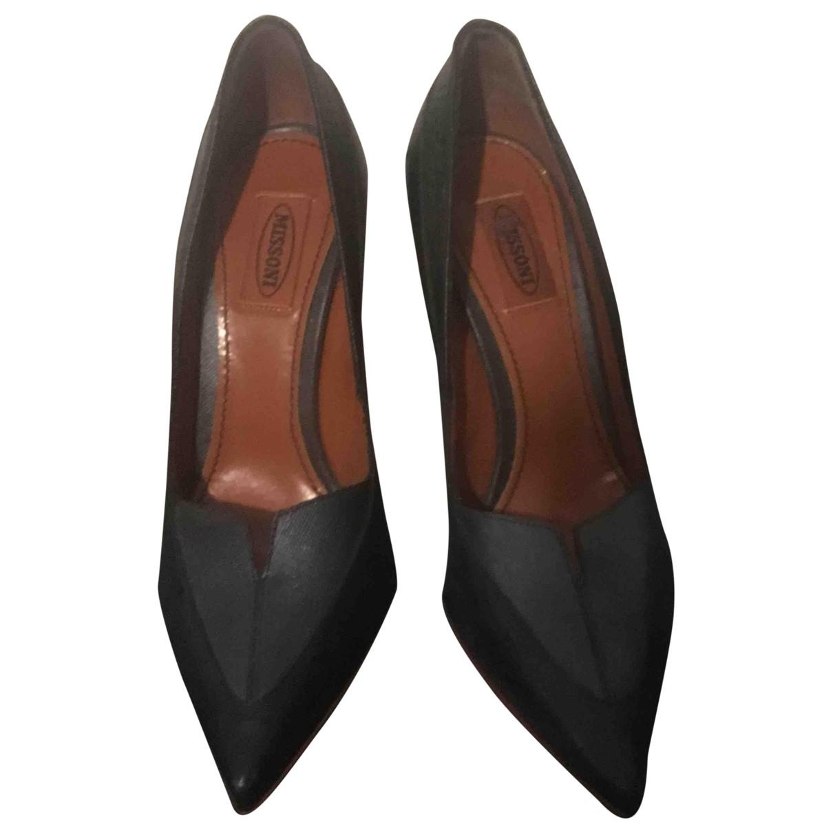Missoni - Escarpins   pour femme en cuir - noir