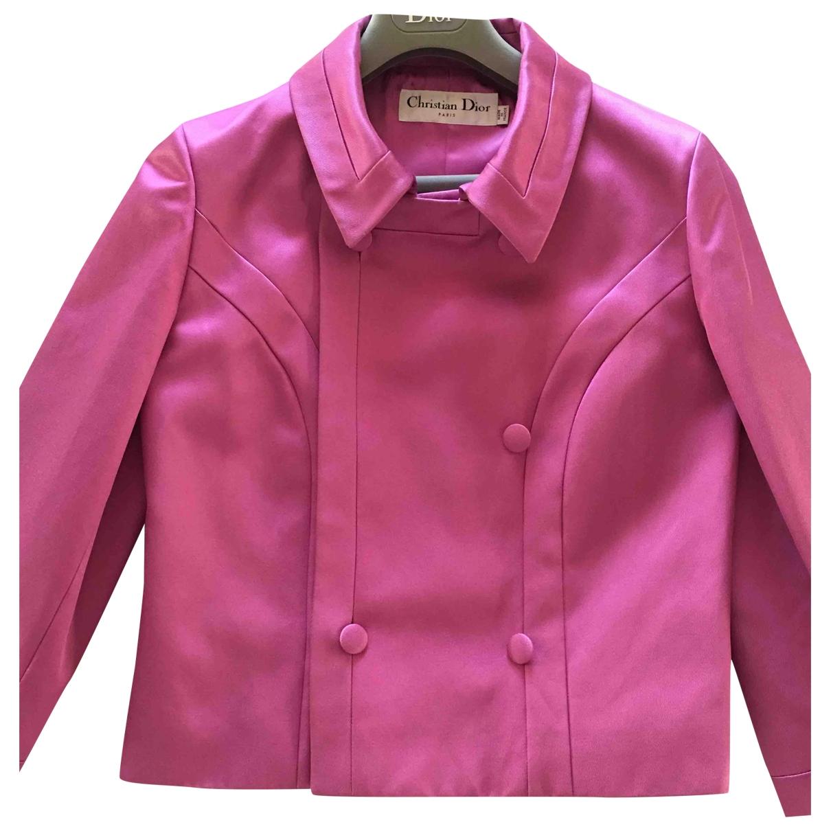 Dior - Veste   pour femme en coton - rose