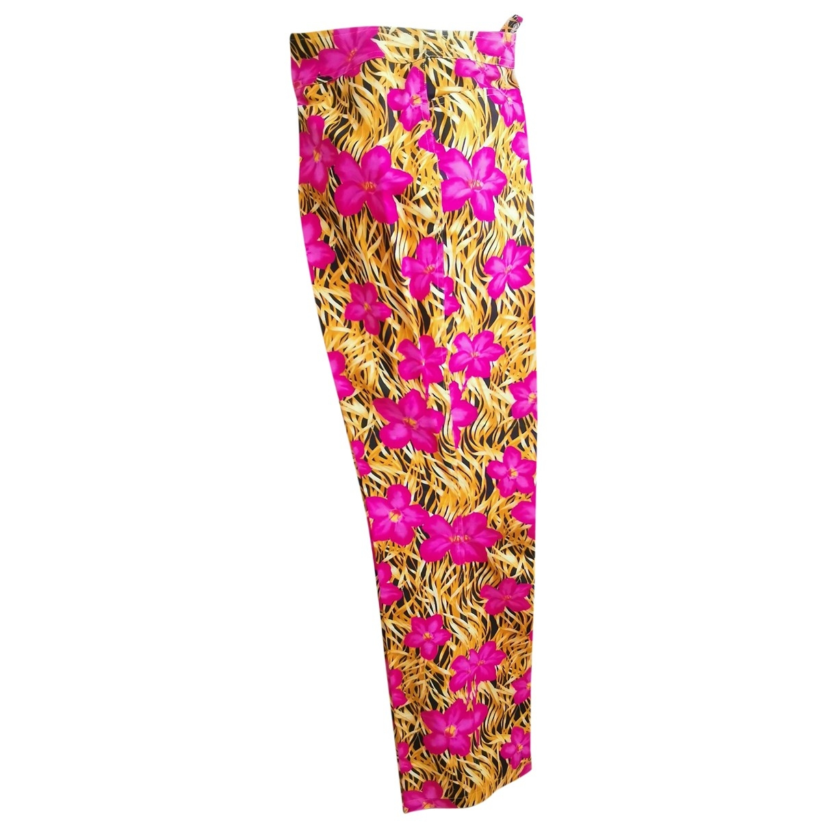 Escada \N Multicolour Cotton Trousers for Women 40 FR