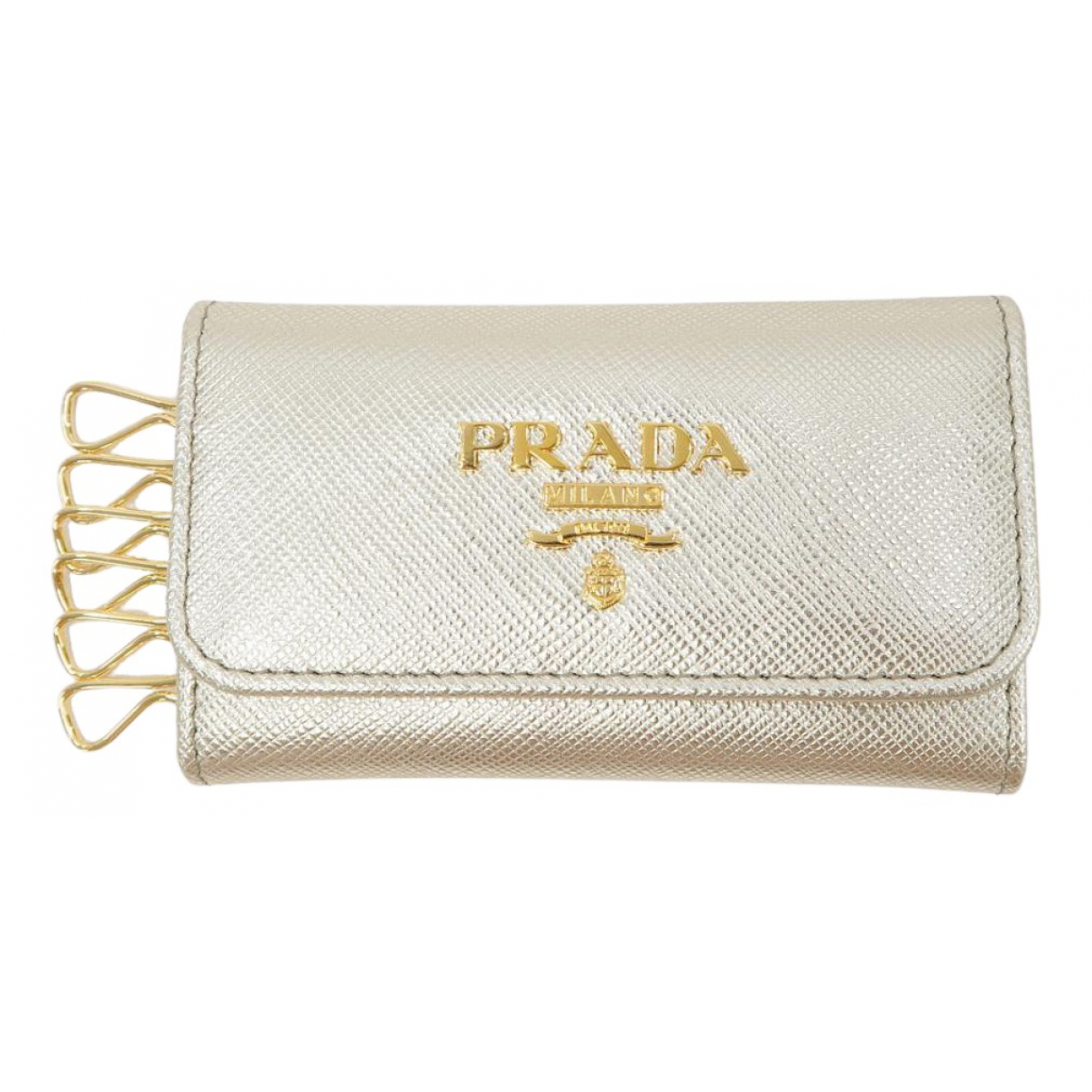 Prada N Silver Leather Purses, wallet & cases for Women N