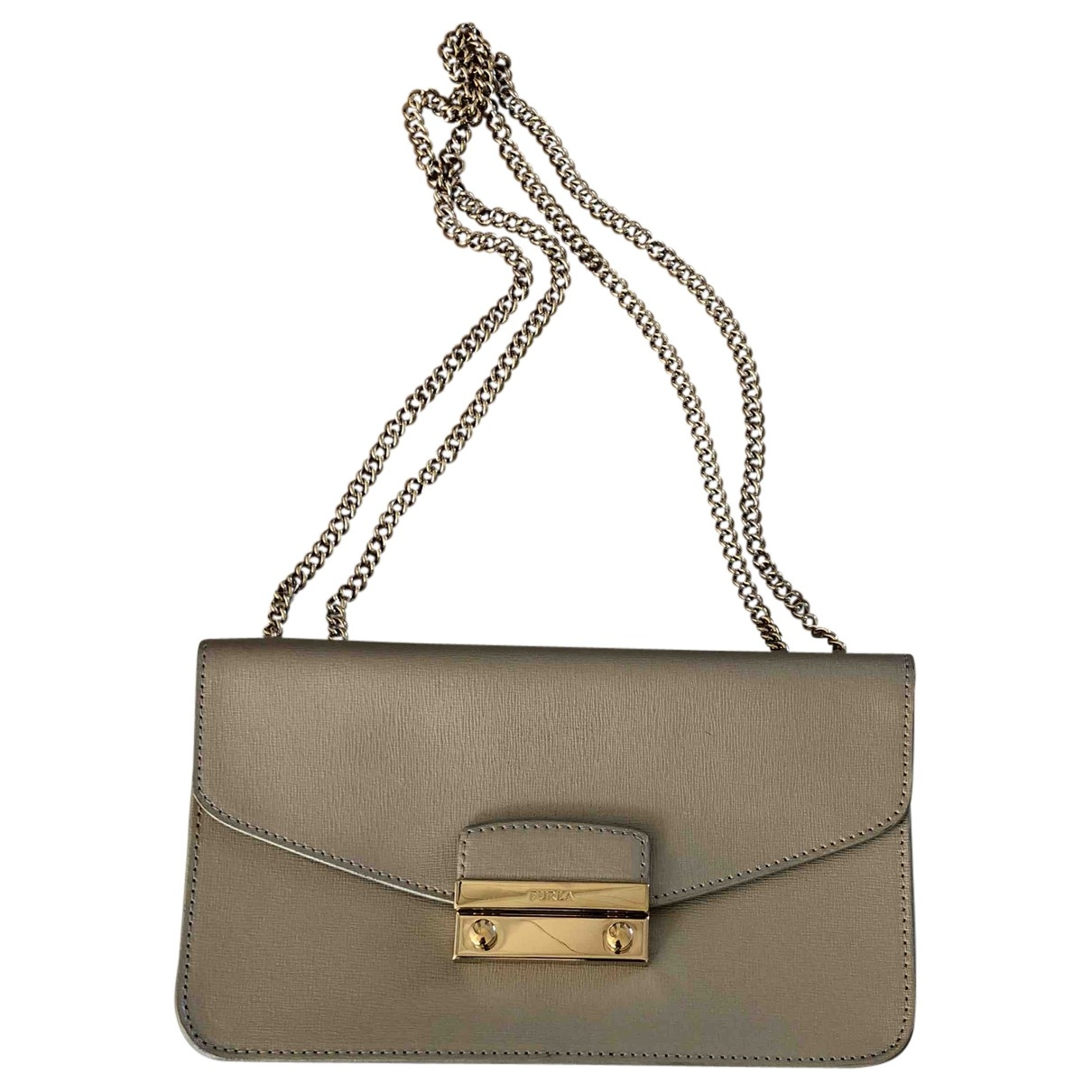 Furla Metropolis Handtasche in  Gold Leder