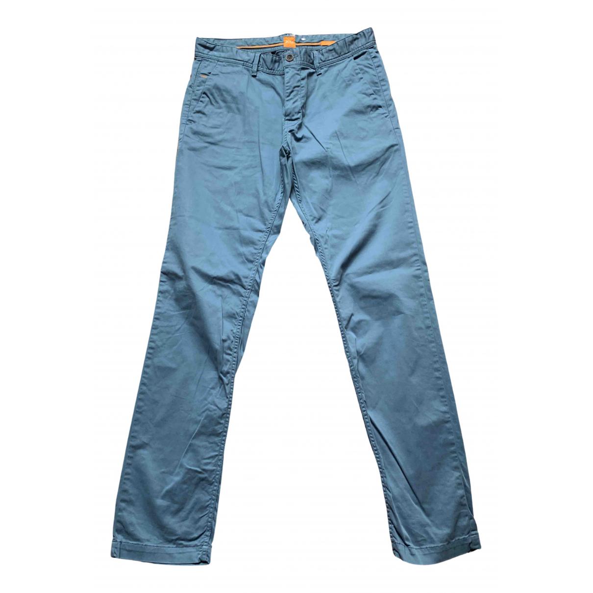 Boss Orange \N Blue Cotton Trousers for Men 34 UK - US
